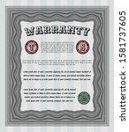 object ogrey warranty template....   Shutterstock .eps vector #1581737605