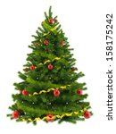 christmas tree  isolated on... | Shutterstock . vector #158175242