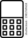 mobile phone icon vector symbol