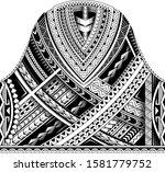 maori ethnic style for tribal... | Shutterstock .eps vector #1581779752