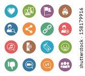 social media icons set 2   dot... | Shutterstock .eps vector #158179916
