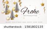 silver merry christmas  balls... | Shutterstock .eps vector #1581802135