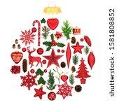 christmas tree decorations  ... | Shutterstock . vector #1581808852