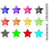 set of colorful stars vector...