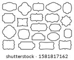 retro labels. vintage frames... | Shutterstock .eps vector #1581817162