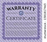 object oviolet retro warranty...   Shutterstock .eps vector #1581817465