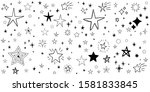 stars doodle set. hand drawn...   Shutterstock .eps vector #1581833845