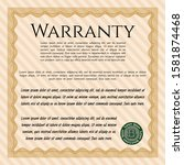 orange retro warranty...   Shutterstock .eps vector #1581874468