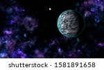 planets and nebula in deep space | Shutterstock . vector #1581891658