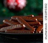 Lebkuchen Sticks Dipped In Dark ...