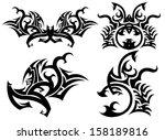 beautiful abstract art pattern... | Shutterstock .eps vector #158189816