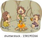 illustration of a caveman... | Shutterstock .eps vector #158190266