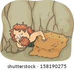 illustration of a caveman...