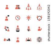 management icons | Shutterstock .eps vector #158192042