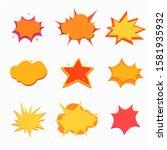 collection of cartoon  comic... | Shutterstock .eps vector #1581935932
