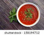 homemade  fresh  tomato sauce...   Shutterstock . vector #158194712