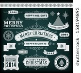 christmas decoration vector... | Shutterstock .eps vector #158194892