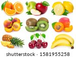 collection of fresh fruits...   Shutterstock . vector #1581955258