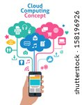 smart phones concept   cloud... | Shutterstock .eps vector #158196926