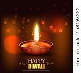 shiny happy diwali vector... | Shutterstock .eps vector #158198222