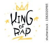 king of rap graffiti street art ... | Shutterstock .eps vector #1582020985