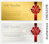 gold and silver gift voucher | Shutterstock .eps vector #158210198