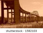 shot of the port mann bridge | Shutterstock . vector #1582103