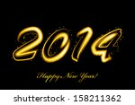 2014 new year glowing | Shutterstock . vector #158211362