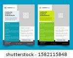 technical data flyer template ...   Shutterstock .eps vector #1582115848