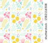 floral illustration design for... | Shutterstock . vector #1582116508