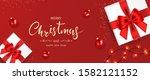 christmas banner. background... | Shutterstock .eps vector #1582121152