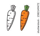 carrot vector illustration with ... | Shutterstock .eps vector #1582149472