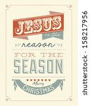 vintage christmas typographical ... | Shutterstock .eps vector #158217956