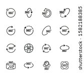 rotation line icon set.set of... | Shutterstock .eps vector #1582188385