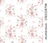 seamless childish pattern with... | Shutterstock .eps vector #1582228708