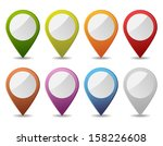 map pointers  | Shutterstock . vector #158226608
