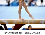 Legs Of A Gymnast Are Seen...