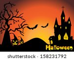 vector halloween background... | Shutterstock .eps vector #158231792