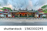 Small photo of Singapore - September 2019: HDR image of Thian Hock Keng Temple. Thian Hock Keng is the oldest Chinese Hokkien Temple in Singapore.