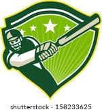 illustration of a cricket... | Shutterstock .eps vector #158233625