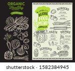 organic menu template for... | Shutterstock .eps vector #1582384945