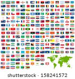 world flags | Shutterstock .eps vector #158241572