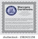 grey warranty template. money...   Shutterstock .eps vector #1582421158