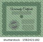 green warranty certificate...   Shutterstock .eps vector #1582421182