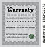 grey retro warranty certificate ...   Shutterstock .eps vector #1582421272