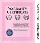 pink retro vintage warranty...   Shutterstock .eps vector #1582421392