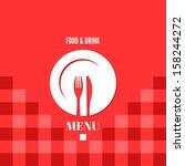 menu design food drink dishes... | Shutterstock .eps vector #158244272