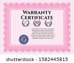 object opink vintage warranty...   Shutterstock .eps vector #1582445815