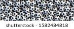 soccer balls background. heap... | Shutterstock .eps vector #1582484818