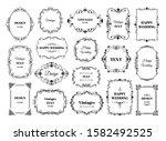 vintage frame label. ornamental ... | Shutterstock .eps vector #1582492525